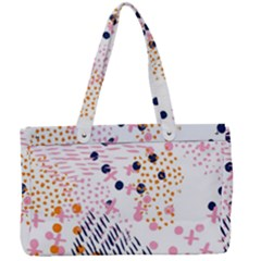 Abstract Colorful Doodle Pattern Canvas Work Bag by tarastyle