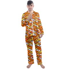 Abstract Colorful Doodle Pattern Men s Satin Pajamas Long Pants Set by tarastyle