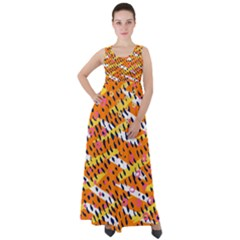 Abstract Colorful Doodle Pattern Empire Waist Velour Maxi Dress by tarastyle