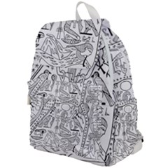 Egyptian Hieroglyphics History Seb Top Flap Backpack