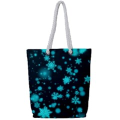 Background Black Blur Colorful Full Print Rope Handle Tote (small)