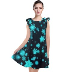 Background Black Blur Colorful Tie Up Tunic Dress