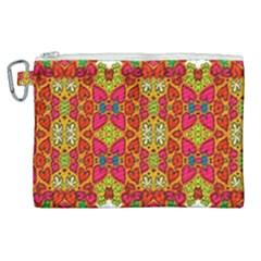 Abstract Background Pattern Doodle Canvas Cosmetic Bag (xl)