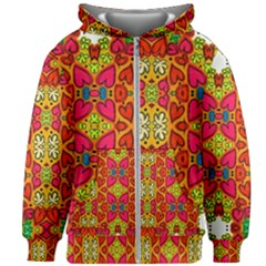 Abstract Background Pattern Doodle Kids  Zipper Hoodie Without Drawstring