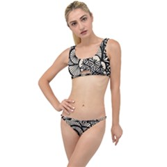 Background Abstract Beige Black The Little Details Bikini Set