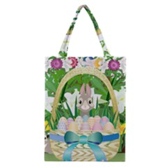 Graphic Easter Easter Basket Spring Classic Tote Bag by Pakrebo