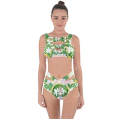 Graphic Easter Easter Basket Spring Bandaged Up Bikini Set