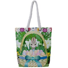 Graphic Easter Easter Basket Spring Full Print Rope Handle Tote (small)