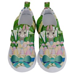 Graphic Easter Easter Basket Spring Kids  Velcro No Lace Shoes