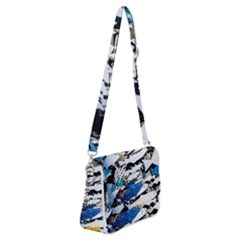 Art Fish Salmon Sydney Metal Shoulder Bag With Back Zipper