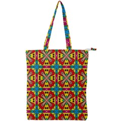 Seamless Pattern Tile Tileable Double Zip Up Tote Bag