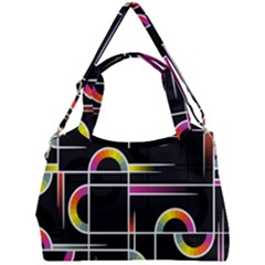 Background Abstract Semi Circles Double Compartment Shoulder Bag