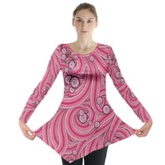 Pattern Doodle Design Drawing Long Sleeve Tunic