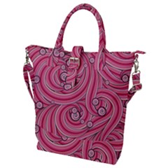 Pattern Doodle Design Drawing Buckle Top Tote Bag
