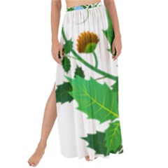 Flowers Floral Plants Nature Maxi Chiffon Tie Up Sarong
