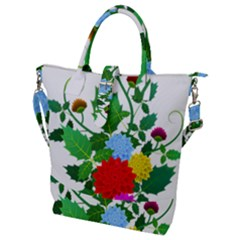 Flowers Floral Plants Nature Buckle Top Tote Bag