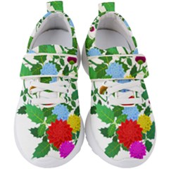 Flowers Floral Plants Nature Kids  Velcro Strap Shoes