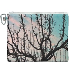 Fruit Tree Silhouette Aesthetic Canvas Cosmetic Bag (xxxl)