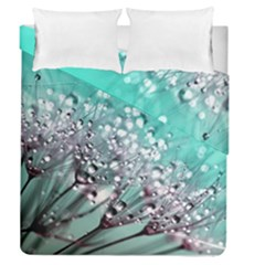 Dandelion Seeds Flower Nature Duvet Cover Double Side (queen Size)