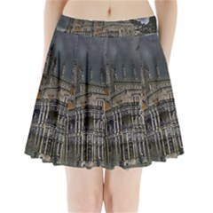 Castle Mansion Architecture House Pleated Mini Skirt by Pakrebo
