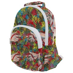 Touch Watercolor Xie Shihong Art Rounded Multi Pocket Backpack