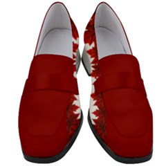 Canada Maple Leaf Loafers Women s  by CanadaSouvenirs