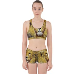 Lion Lioness Wildlife Hunter Work It Out Gym Set
