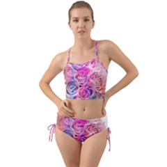 Rose Bouquet Flower Petal Floral Mini Tank Bikini Set
