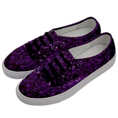 Sequins  White Purple Men s Classic Low Top Sneakers by Pakrebo