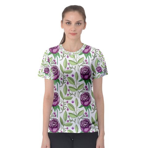 Default Texture Background Floral Women s Sport Mesh Tee by Pakrebo