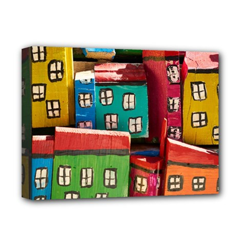 Houses Handmade Cultural Deluxe Canvas 16  X 12  (stretched)  by Pakrebo