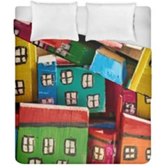 Houses Handmade Cultural Duvet Cover Double Side (california King Size)