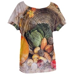 Pumpkin Vegetables Autumn Women s Oversized Tee by Pakrebo