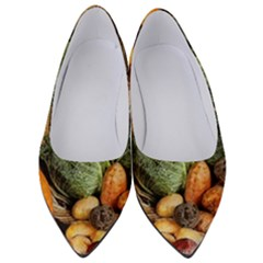 Pumpkin Vegetables Autumn Women s Low Heels by Pakrebo