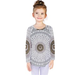 Cami Texture Pattern Architecture Kids  Long Sleeve Tee