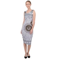 Cami Texture Pattern Architecture Sleeveless Pencil Dress
