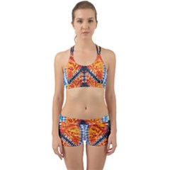 Tie Dye Peace Sign Back Web Gym Set