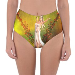 Beautiful Fairy With Wonderful Flowers Reversible High Waist Bikini Bottoms by FantasyWorld7