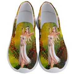 Beautiful Fairy With Wonderful Flowers Men s Lightweight Slip Ons by FantasyWorld7