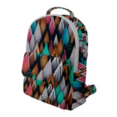 Abstract Triangle Tree Flap Pocket Backpack (large)