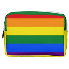 Lgbt Rainbow Pride Flag Make Up Pouch (medium) by lgbtnation