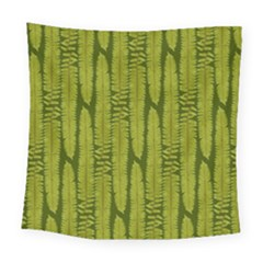Fern Texture Nature Leaves Square Tapestry (large)