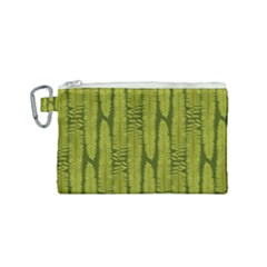 Fern Texture Nature Leaves Canvas Cosmetic Bag (small) by Nexatart