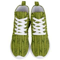 Fern Texture Nature Leaves Women s Lightweight High Top Sneakers