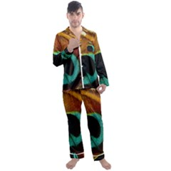 Feather Peacock Feather Peacock Men s Satin Pajamas Long Pants Set