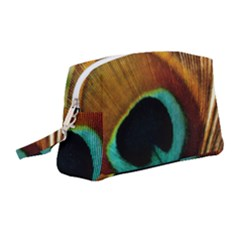 Feather Peacock Feather Peacock Wristlet Pouch Bag (medium)