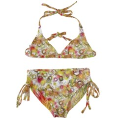 Background Christmas Star Advent Kids  Classic Bikini Set