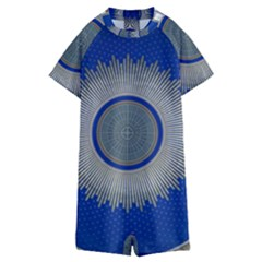 Vienna Central Cemetery Kids  Boyleg Half Suit Swimwear