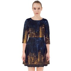 Architecture Buildings City Smock Dress