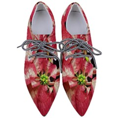 Christmas Poinsettia Deco Jewellery Pointed Oxford Shoes